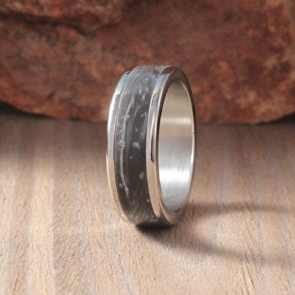 Cosmos Prima Acrylic Stone Inlay Ring