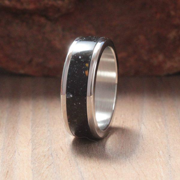 Fantasia Acrylic Stone Inlay Ring