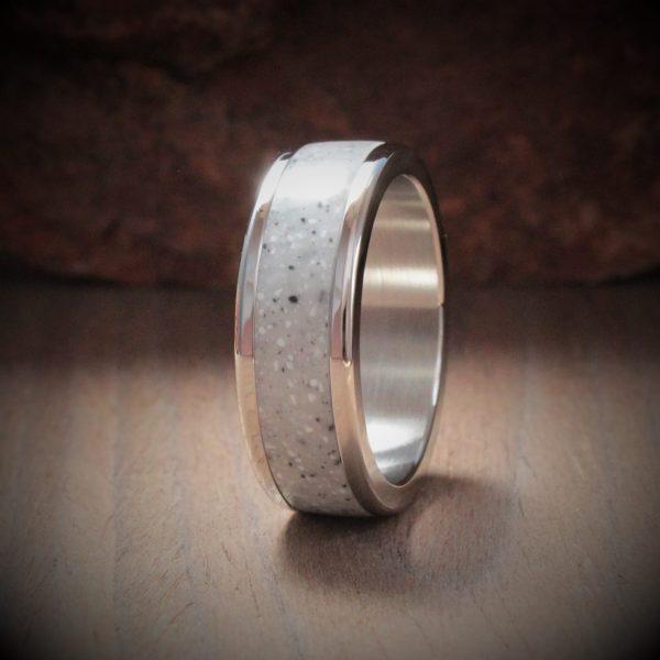 Galaxy Muddy Acrylic Stone Inlay Ring