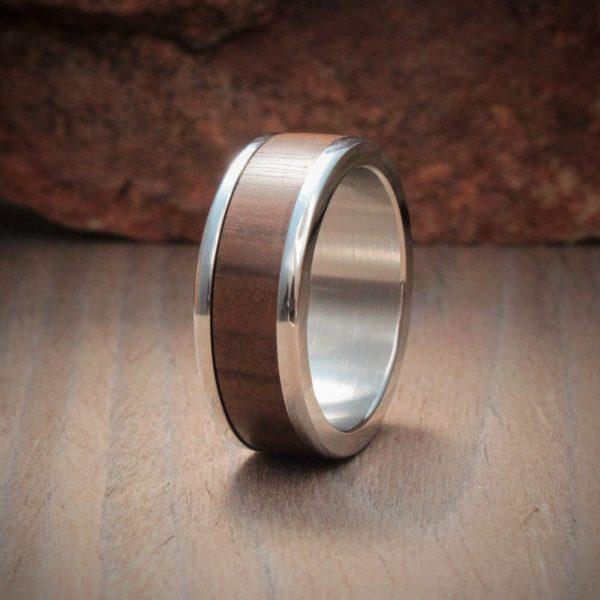 Imbuia Wood Inlay Ring