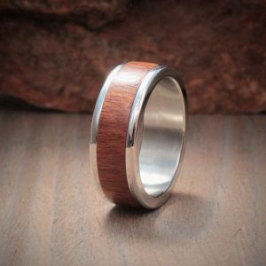 Mopane Wood Inlay Ring