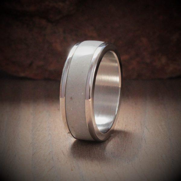 Moss Acrylic Stone Inlay Ring