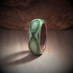 Paper Ring - Green Penta