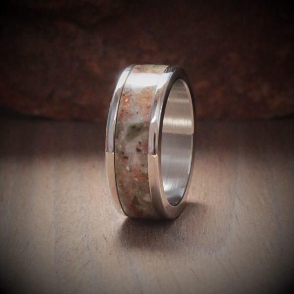 Rosemary Acrylic Stone Inlay Ring