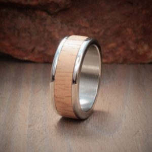 Rubberwood Wood Inlay Ring
