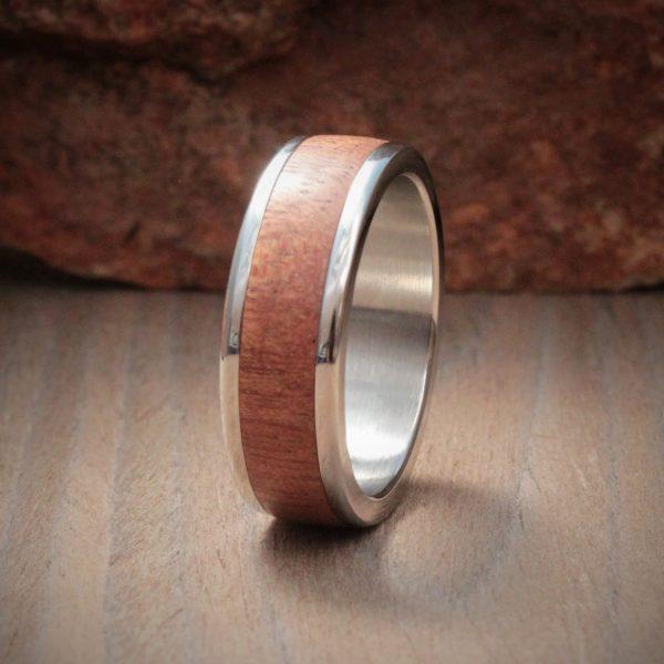 Sapele Wood Inlay Ring