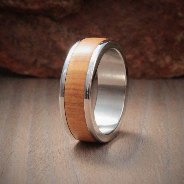 Sneezewood Wood Inlay Ring
