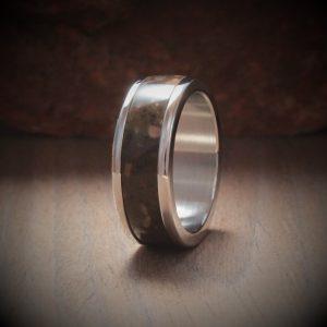 Toffee Acrylic Stone Inlay Ring