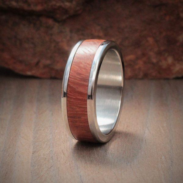 Syringa Wood Ring Inlay