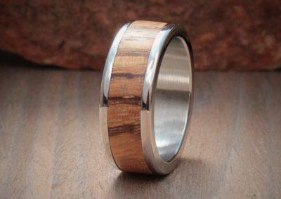 Zebrano Wood Ring Inlay