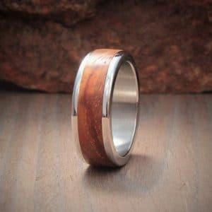 Wood Ring Inlay - Kiaat