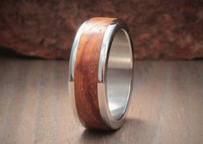 Wood Inlay Ring - Kiaat