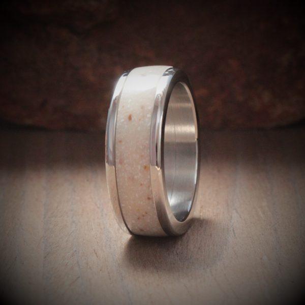 Aurora Acrylic Stone Inlay Ring