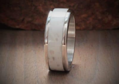 Birch Acrylic Stone Inlay Ring