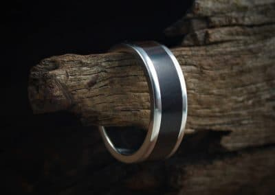 African Black Wood Inlay Rings