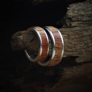 Kiaat Wood Inlay Rings