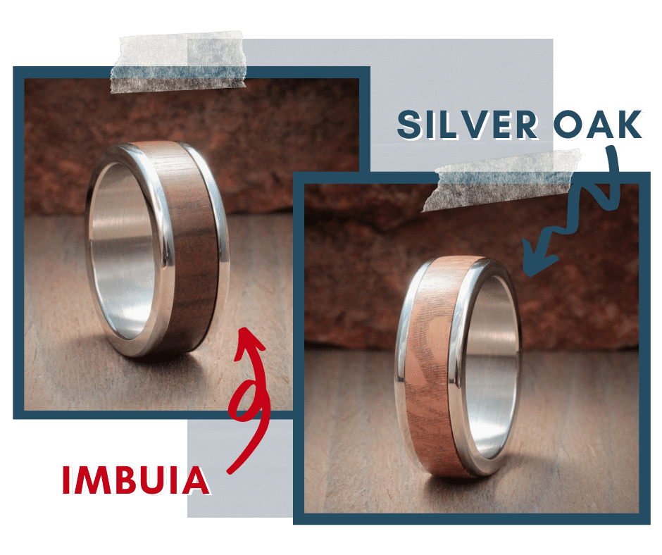 More Products Wood Inlay Rings