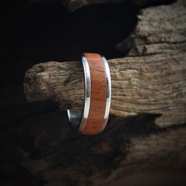 Padauk Wood Inlay Ring