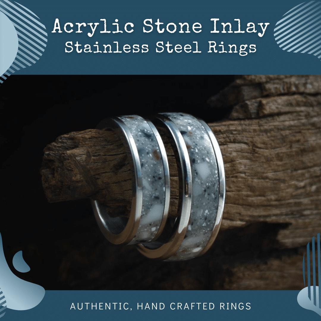 Acrylic Stone Inlay Rings