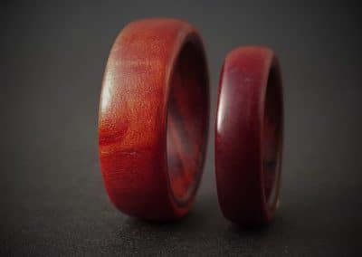 Red Ivory & Teak wood ring