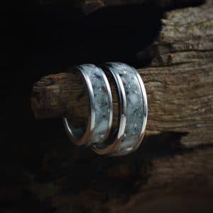 Sketch Acrylic Stone Inlay Ring