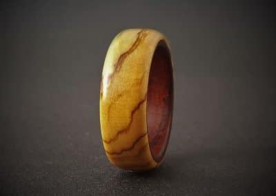 Wild Olive & Teak wood ring