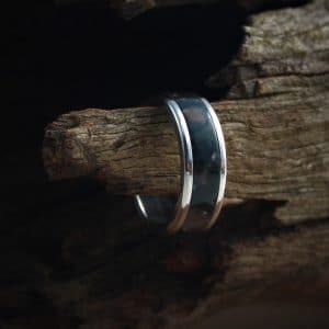 Zebra Stone Acrylic Stone Inlay Ring
