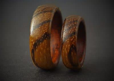Zebrano & Teak Wood Ring
